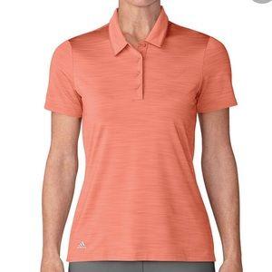 Adidas Collared Womens Golf Polo Coral Sz L
